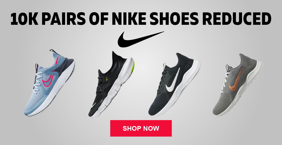 10K Pairs of Nike Shoes Reduced