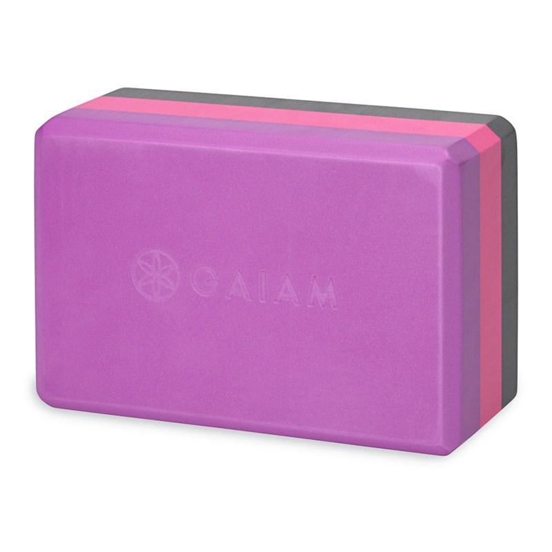 Gaiam Yoga Block Tri Colour