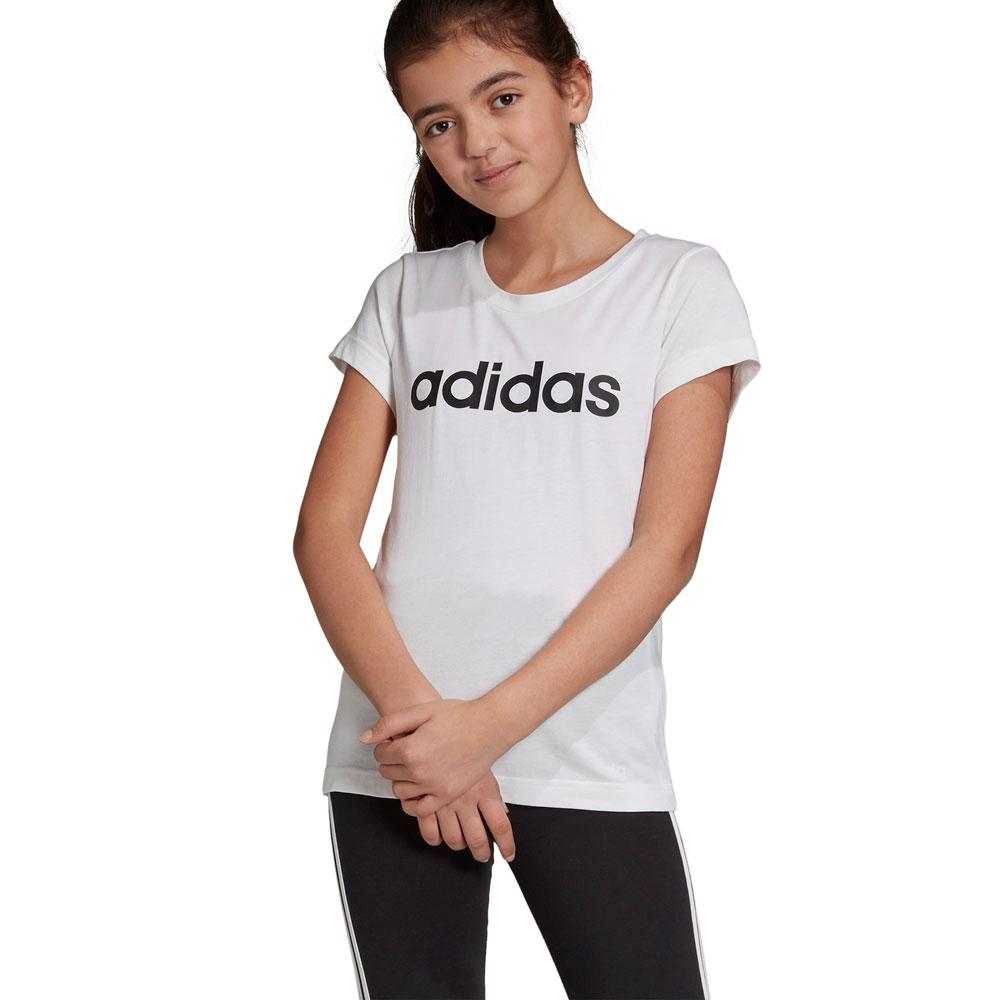 Desear barro Sherlock Holmes  adidas Girls Essentials Linear Tshirt   Rebel Sport